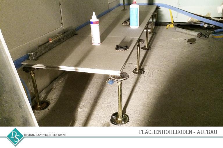 Design- & Systemboden GmbH Produkte Flächenhohlboden Aufbau