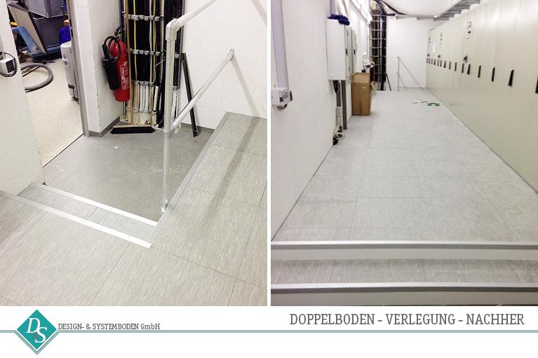 Design- & Systemboden GmbH Produkte Doppelboden Verlegung