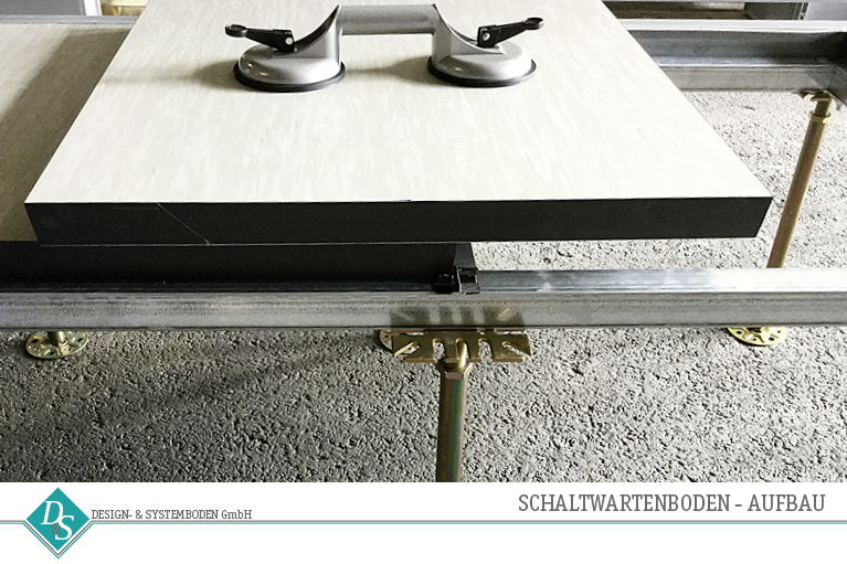 Design- & Systemboden GmbH Produkte Schaltwartenboden Aufbau