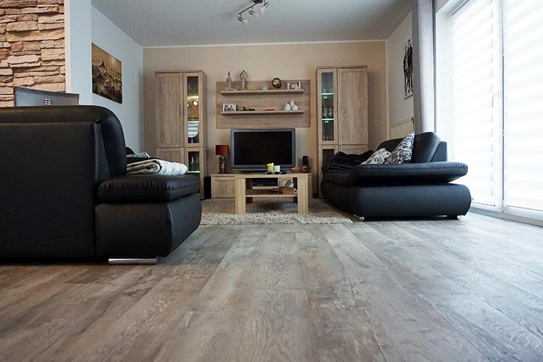 design systemboden vinylboden wohnzimmer